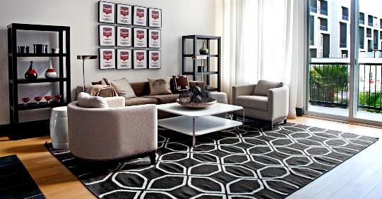 Las Vegas luxury condos for sale at Loft 5 living room