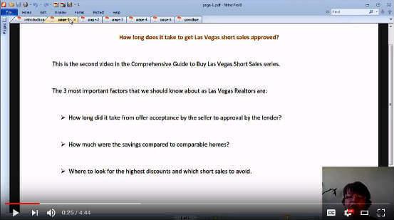 How long does it take to close Las Vegas short sale deals video