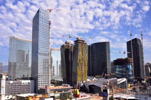MGM CityCenter, Las Vegas Aria Casino, Veer Towers and Residences at Mandarin Oriental Hotel