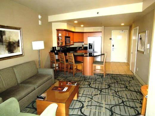 Living room at Platinum Hotel Condo in Las Vegas