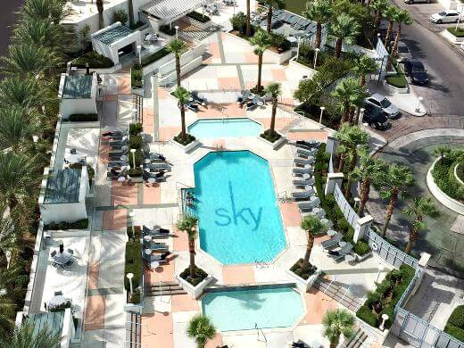Sky Las Vegas high rise condo tower's pool