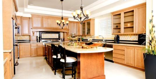 Upgraded kitchen in Mira Villa Condo for sale or rent