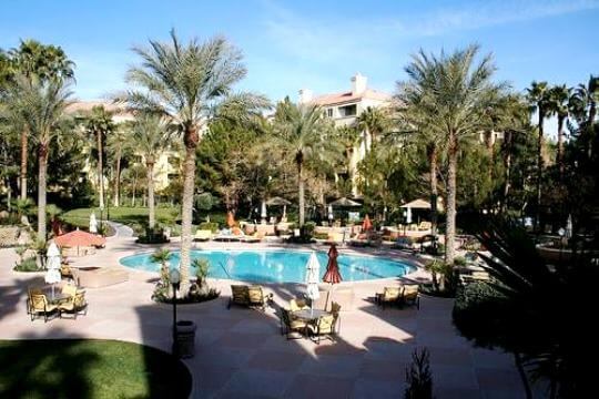 Meridian condos for sale at Hughes Center pool and spa