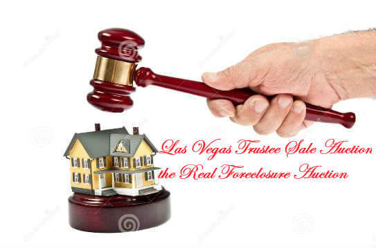 House under an auctioneers gavel representing Las Vegas Trustee Sale Auction the real Las Vegas foreclosure auction where the act of foreclosure takes place