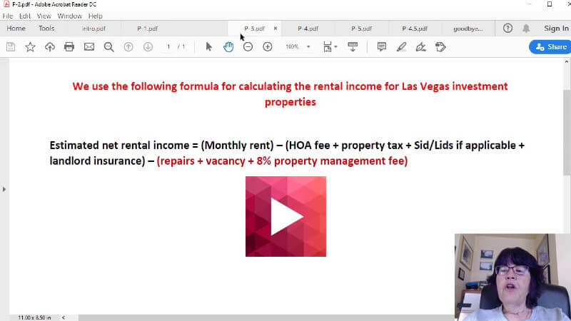 Calculating rental income for Las Vegas investment properties video thumbnail