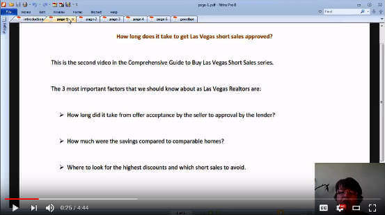 How long does it take to close Las Vegas short sale deals video