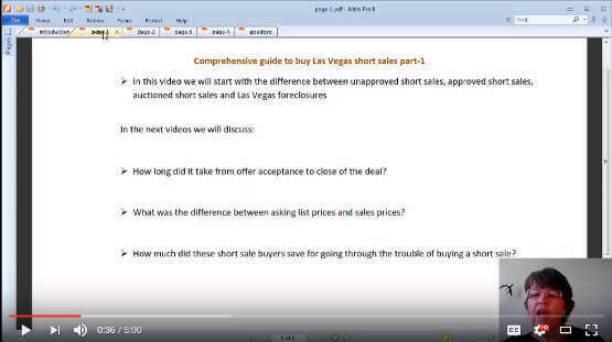 Las Vegas short sales homes and condos buyers guide video